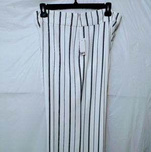 Bar III Striped Wide Leg Pants